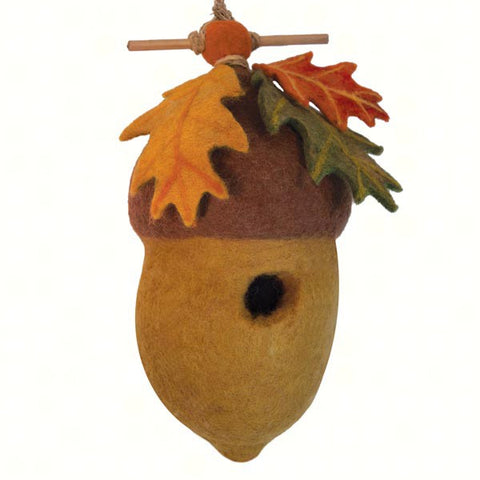 Pin Oak Acorn Felt Birdhouse