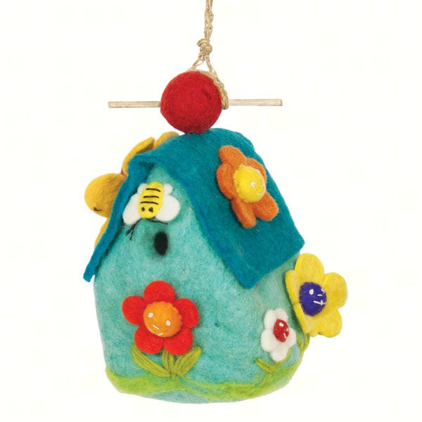 Flower House Felt Birdhouse