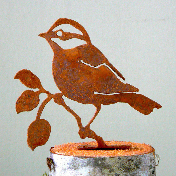 Handmade /Rusted Steel Black Capped Chickadee Silhouette