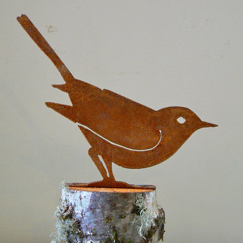 Elegant Garden Design Handmade /Rusted Steel Brown Thrasher Silhouette