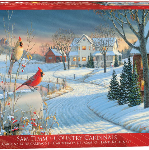 1000 Piece Cardinals in Winter Puzzle