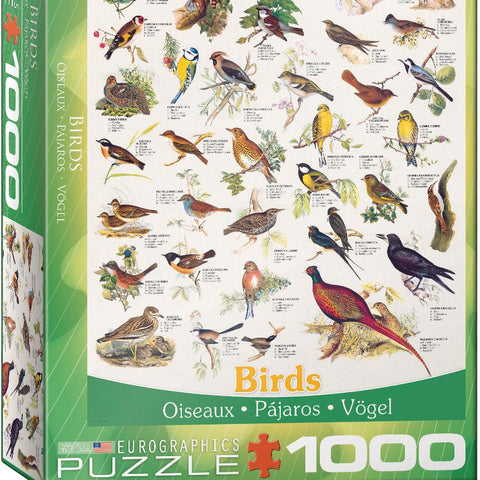 1000 Piece Birds of Field and Garden Puzzle