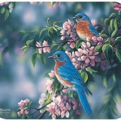 Bluebirds Mouse Pad