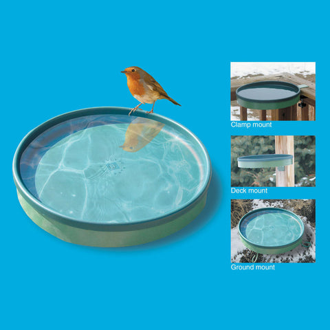 Farm Innovators 75 W Light Green 3-in-1 Heated Birdbath