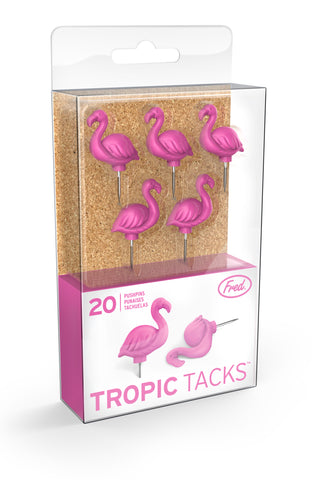 Tropic Flamingo Push Pins