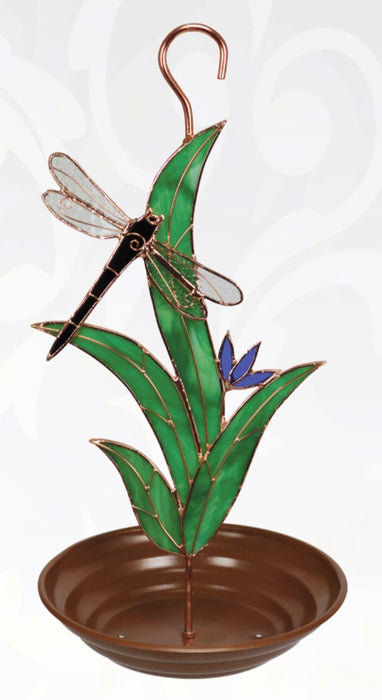 Dragonfly with Leaves Bird Feeder
