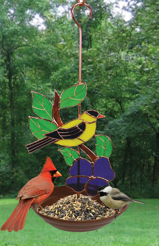 Bird Feeder With Goldfinch Design