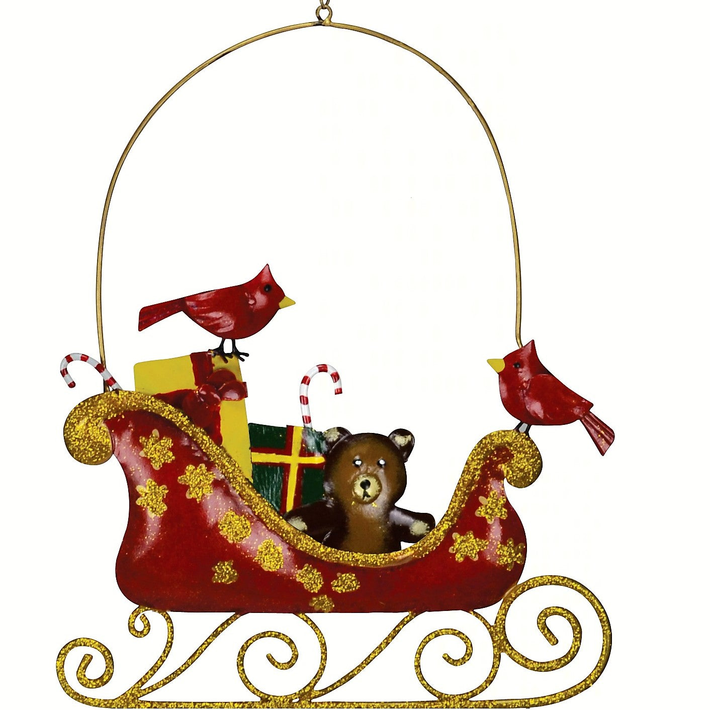 Cardinals on a Sleigh Holiday Wall Decor