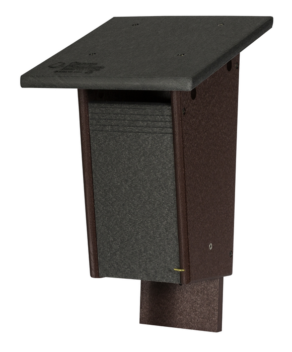 Blue Bird House - Sparrow Resistant Sloped Roof