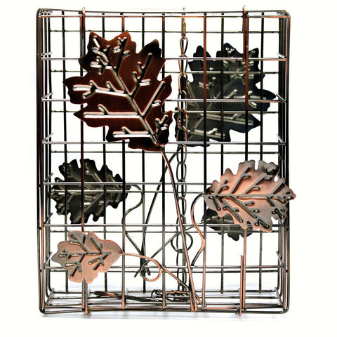 Copper Decorative Leaf Large Seed Cake Cage