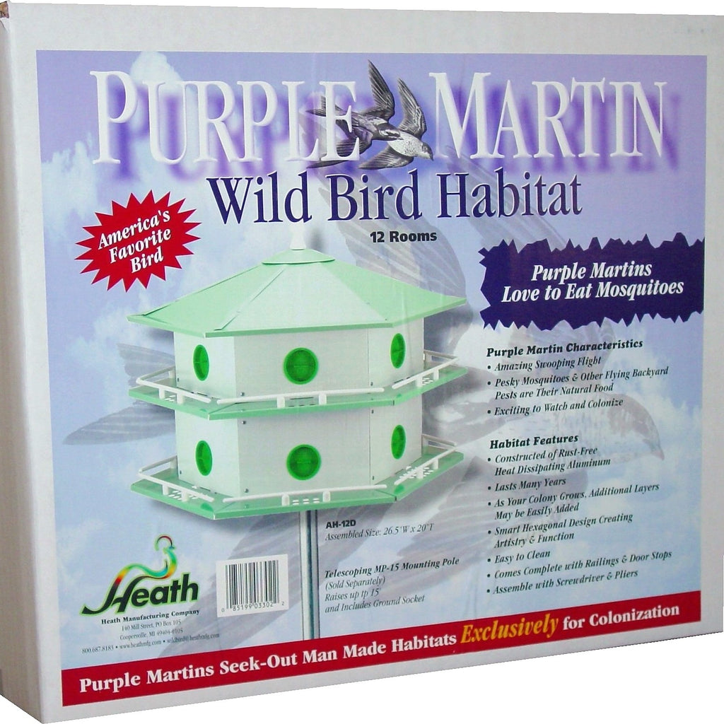 12 Room Aluminum Purple Martin House