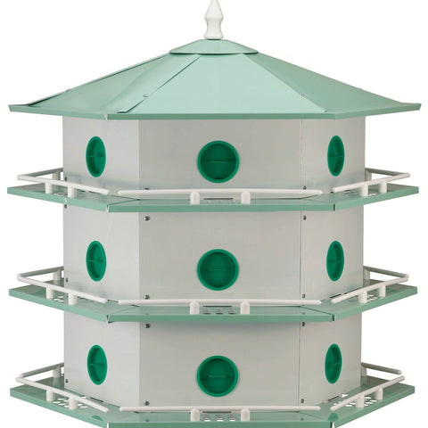 18 Room Aluminum Purple Martin House