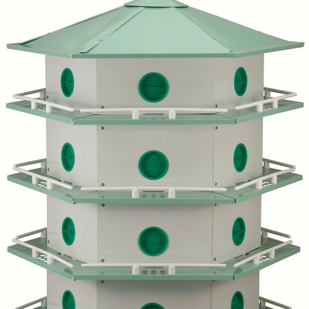 24 Room Aluminum Purple Martin House
