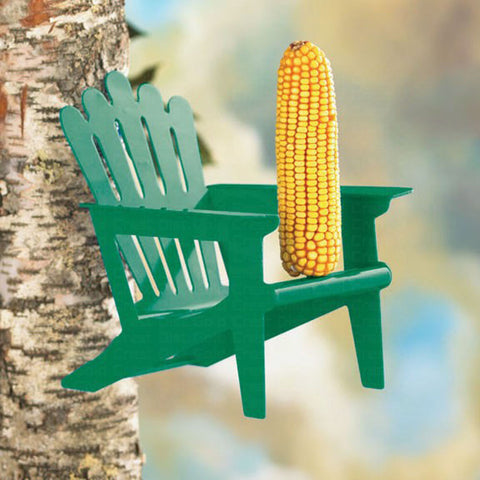 Hiatt Manufacturing Adirondack Chair Cob Squirrel Feeder
