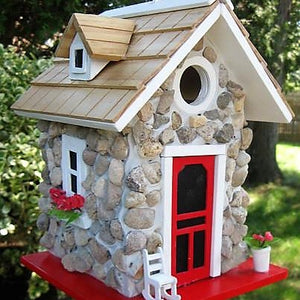 Home Bazaar Fieldstone Guest Cottage Birdhouse
