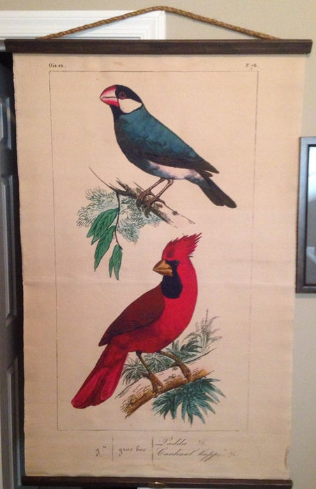 Design Legacy Cardinal And Java Sparrow Wall Hanging Large size 3' W x 5' L