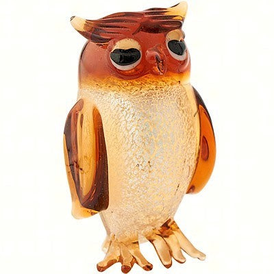 Milano Art Brown Owl Glass Animal