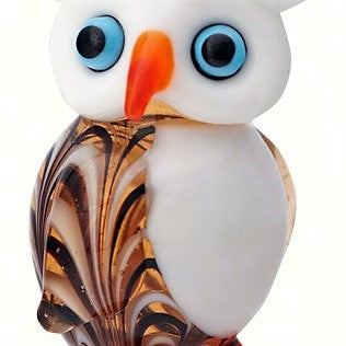 Milano Art White Owl Glass Animal