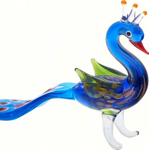 Milano Art Peacock Glass Animal