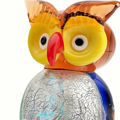Milano Art Owl Glass Animal