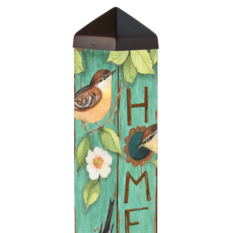 4 FT Home Tweet Home Art Pole