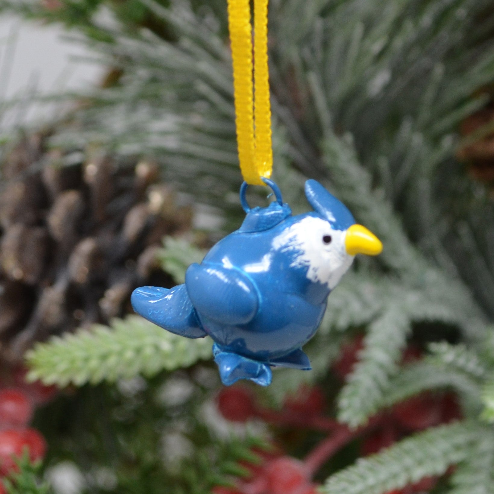 Bluejay Marble Ornament