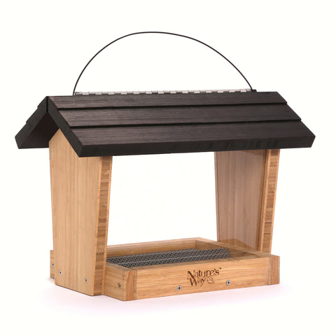 6 QT Bamboo Seed Hopper And Suet Feeder