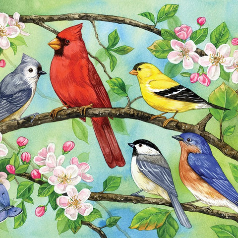 350 Piece Bloomin' Birds Family Puzzle