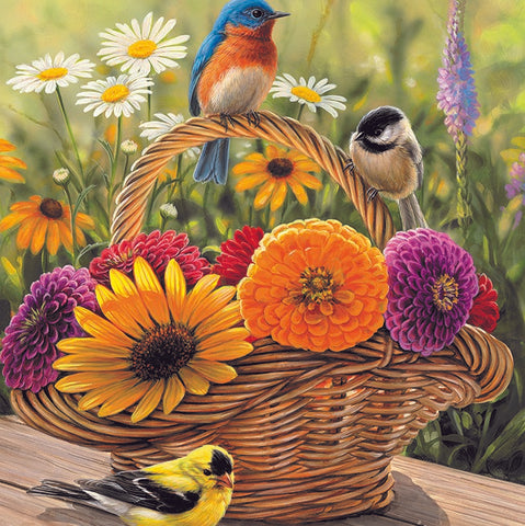 35 Piece Bluebird & Bouquet Tray Puzzle
