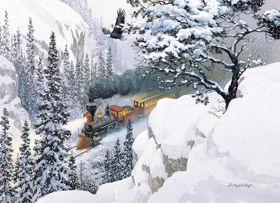 1000 Piece Snow Mountain Train The Passage Puzzle