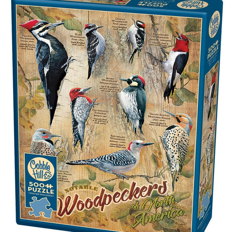 500 Piece Notable Woodpeckers Puzzle