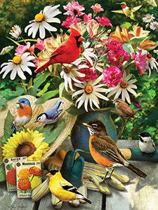 500 Pieces Garden Birds Puzzle