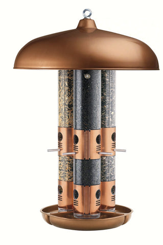 Top Flight Copper Triple Tube Feeder