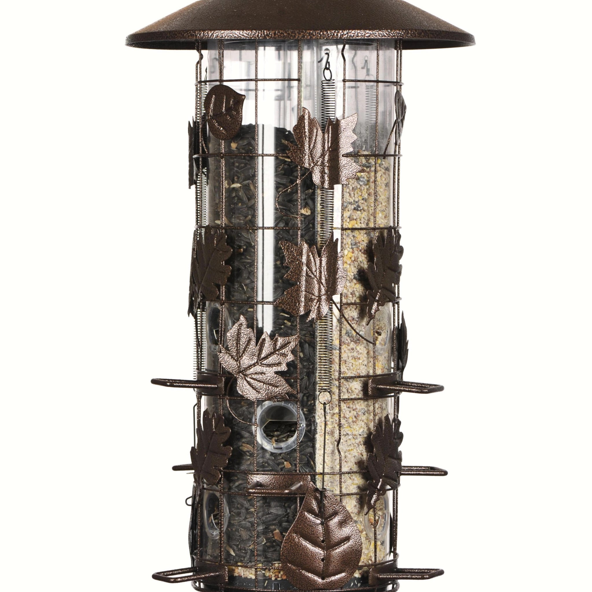 Perky Pet 8 LB Capacity 9 Port 3 Compartment Weight Sensitive Bird Feeder
