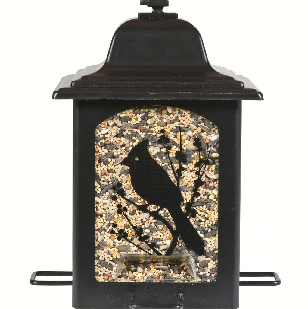 Perky Pet 5 LB Capacity 4 Station Birds and Berries Sure Lock Cap Birder Feeder
