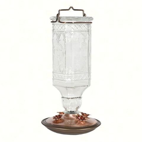 Perky Pet 24 OZ Clear Antique Glass Hummingbird Feeder