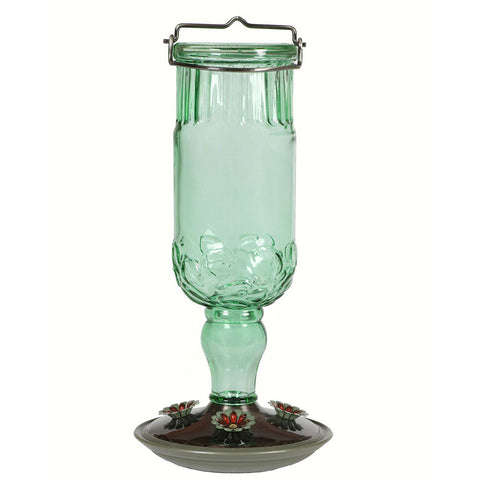 Perky Pet 24 oz Antique Glass Hummingbird Feeder