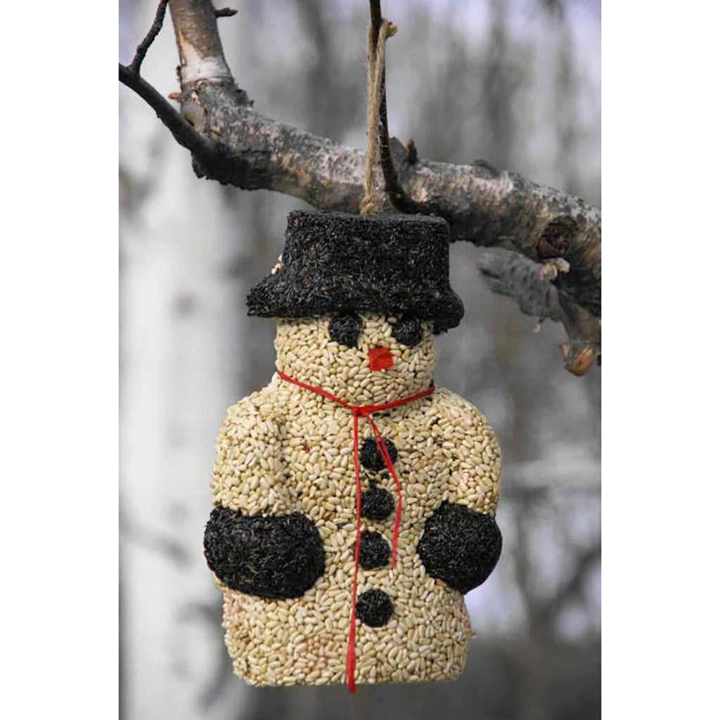 Pine Tree Farms Snowman Hanging Bird Seed