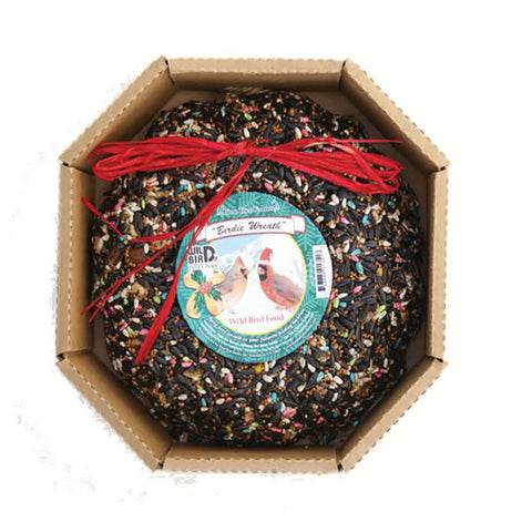 Pine Tree Farms Birdie Christmas Wreath Hanging Bird Seed