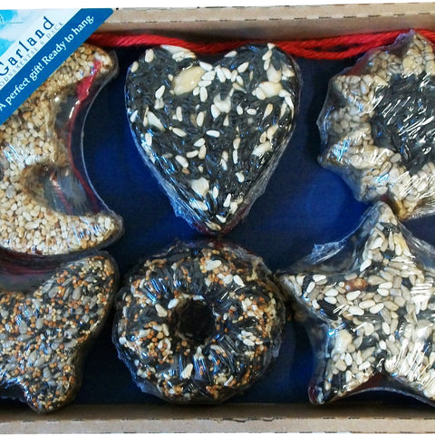 6 Pack Garland Seed Ornaments