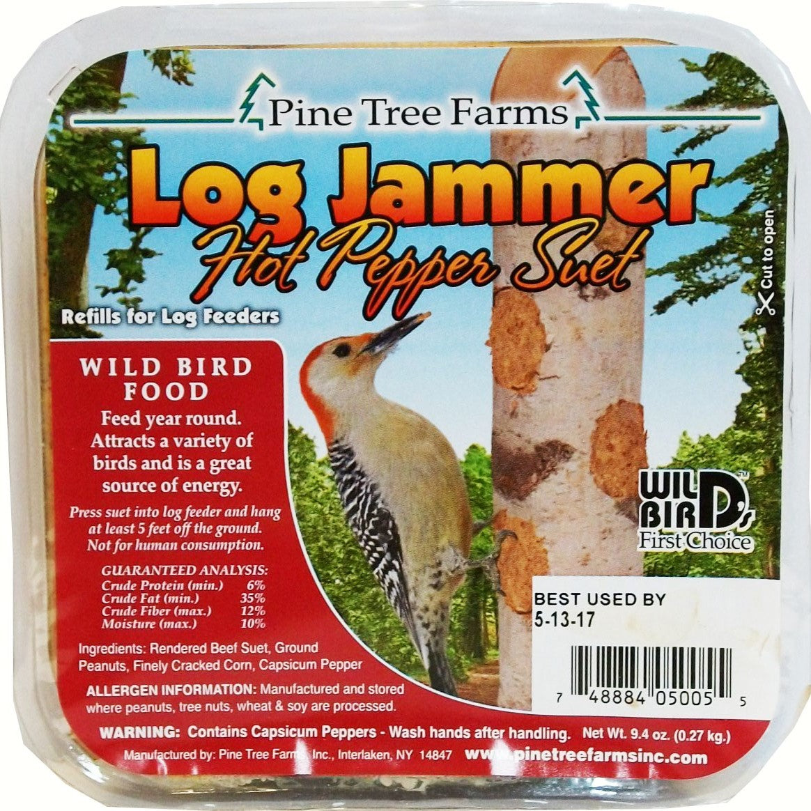 Log Jammers Hot Pepper Suet