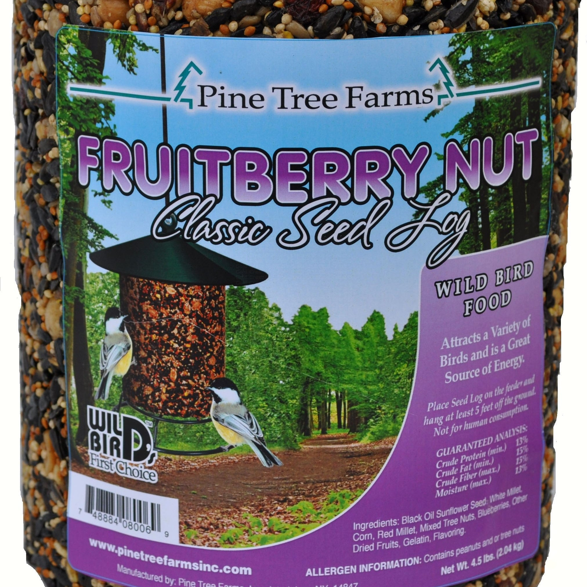 72 OZ Fruit Berry Nut Seed Log