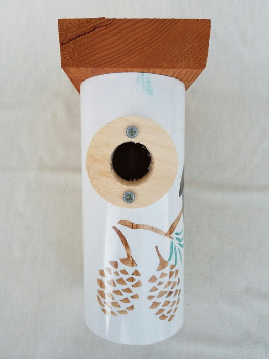 Handcrafted PVC And Wood Birdhouse