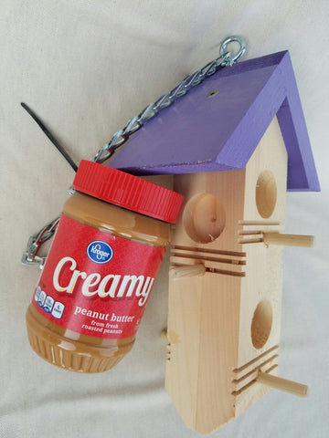 Handcrafted Peanut Butter Feeders
