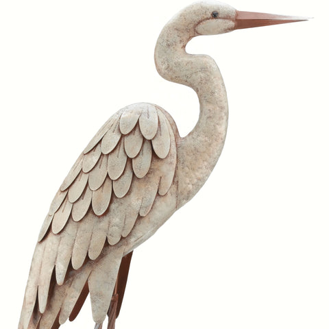 Large Standing Egret Statue