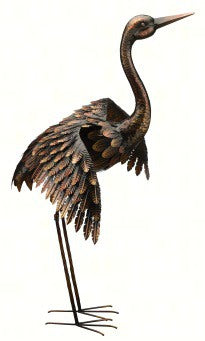 41 IN Wings Out Bronze Crane