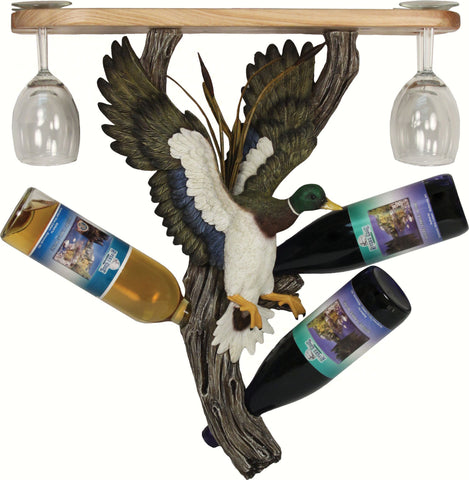 River's Edge Products Mallard Wine Shelf