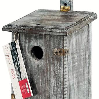 Rainbow Gardman Wooden Flat Roof Clipper Nest Box Bird House
