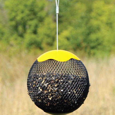 Yellow Seed Sphere Bird Feeder