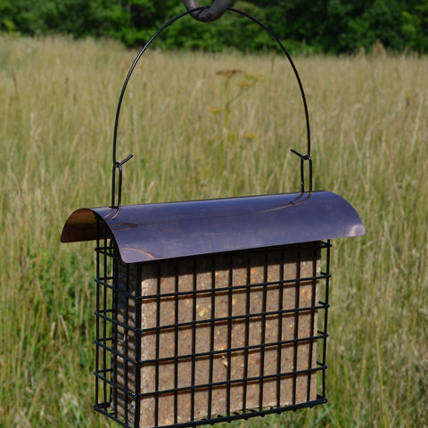 Large Cake Suet Cage w/Copper Top